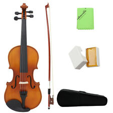 ammoon Full Size 4/4 Natural Acoustic Violin Solid Wood for Beginner Student
