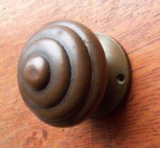 Antique Fancy Concentric Bronze Doorknob Door Knob & Rose c1885 Unusual