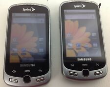 2x Samsung Moment SPH-M900 Android SPRINT Slider Keypad Lot - Parts/Repair