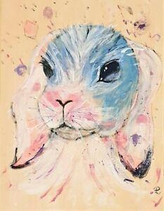 """""""Fairy Bunny"""" Original Painting- De Martino Art"""