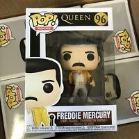 Funko POP! Queen Freddie Mercury #96 1986 Wembley Stadium Outfit -IN STOCK- MINT