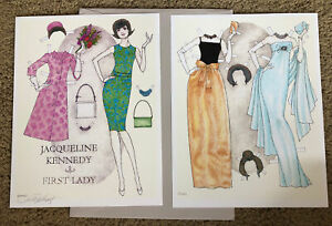 Jacqueline Kennedy Paper Doll by Donald Hendricks, Signed, Uncut