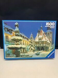 Ravensburger Michelstadt in Winter 1500 Piece Premium Puzzle, COMPLETE