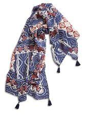 Lucky Brand - Women's - NWT - Blue/Multi Rockefellar Tassel Square Scarf