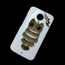 Retro Bronze Owl Branch Back Hard Case Skin for Motorola Moto E2/Moto G2/Moto X2
