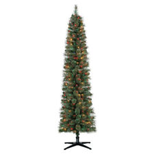 Home Heritage Stanley 7' Artificial Pine Christmas Tree w/ Multicolored Lights