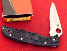 "Spyderco mint in box 3.75"" serrated Vg-10 blade Endura lockback knife"