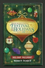Walt Disney World Epcot Festival of the Holidays 2017 Christmas Passport Booklet