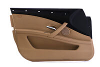 BMW 5 Series E60 E61 LCI Front Left N/S Door Card Trim Panel Beige Cloth