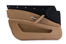 BMW 5 Series E60 E61 LCI Front Left N/S Door Card Trim Panel Beige Cloth