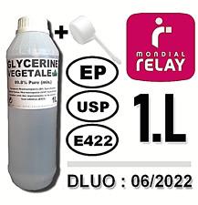 ⭐ 1L | GLYCÉRINE VÉGÉTALE (99.8%) (E422) | ALIMENTAIRE | COSMÉTIQUES | e-LIQUIDE