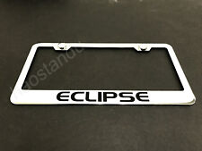 1x ECLIPSE STAINLESS STEEL LICENSE PLATE FRAME + Screw Caps