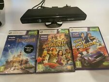 Xbox 360 kinect Sensor and 3 games(2 are brand new and sealed)