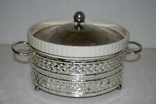 Vintage Baking Pot Oven To Table England w/ Metal Holder and Top RARE
