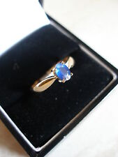 9CT GOLD FINE BLUE SAPPHIRE DRESS RING BNIB IN MADE ENGLAND PURE QUALITY