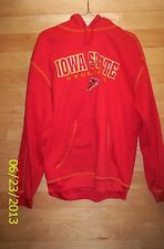 Iowa State Cyclones Sewn Pro Edge Pullover Hoodie Jersey Red Sz Mens Large NWOTS