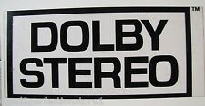 Vintage DOLBY STEREO Theatre Advertising Sign rare hard to find movie theatre