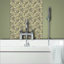 GREEN Glass Mosaic Tiles Bathrooms Kitchens Wall Floor SAMPLE 4M-221