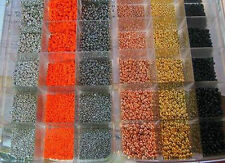 100 Tungsten beads>5 packs of 20 beads>11 colors/5 sizes available>See Chart