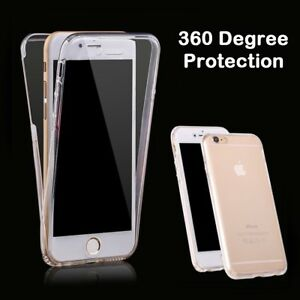 360 Degree transparent Clear Front Back Case Cover for iphone 6 7 8  plus x 5 s