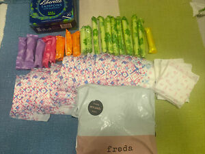73 Items Inc FREDA Eco Pads Natural PeriodCare Hypoallergenic Cruelty Free+ More