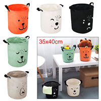 UK Dirty Wash Clothes Bucket Baby Kid Toy Canvas Laundry Basket Storage Bag Box