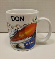 1995 NASA Souvenir Coffee Mug ( Don ) Space Shuttle Apollo Eagle Flag