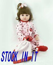 """19""""Bambole Rinascere Sale Lifelike Silicone Bambole Reborn Baby Doll Toys Gift"""