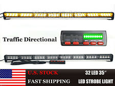 "35"" 32W LED AMBER FLASH WRECKER TRAFFIC ADVISOR EMERGENCY WARN STROBE LIGHT BAR"