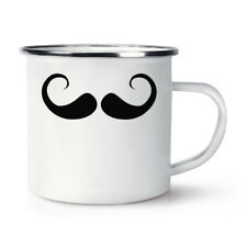 Imperial Moustache Retro Enamel Mug Cup - Mens Hipster Funny