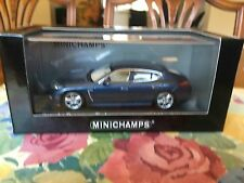 Minichamps Porsche Panamera Turbo In Blue Metallic. 2009 Model in 1/43 scale