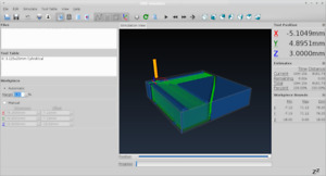 CNC simulator software for CAD CAm milling machine or router