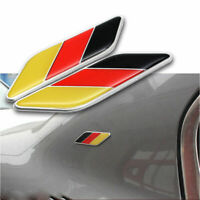 1Pair Body Engine Cover Cool German Flag Style Emblem Decal Sticker Alloy&Epoxy