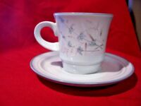 NOritake Stoneware Cup & Saucer Set Woodstock Lot Of 3