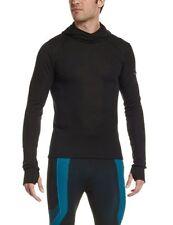 Odlo Maglia sportiva termica con cappuccio Uomo, Nero (Black), L (S7M)