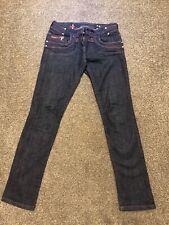 River Island Skinny Jeans Blue Purple Pink Detail 10 Regular 10R