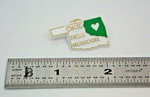 Okie From Muskogee Oklahoma Merle Haggard Vintage Lapel Pin