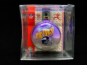 Minnesota Vikings NFL Football Topperscot Glass Ball Christmas Ornament - NEW