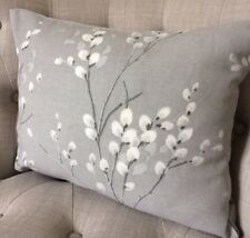 "12x18"" Cushion Cover in Laura Ashley Pussy Willow Steel/Austen Grey"