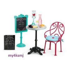 American Girl Doll Grace's BISTRO SET  Table Menu Chair + more  SAME DAY SHIP