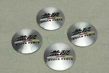 4Pcs Silvery Aluminum Alloy Mugen Power Wheel Center Hub Caps Stickers Emblems
