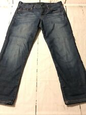 Lucky Brand Sweet Jean Crop Women's Distressed Stretch Jeans Size 2 Or 26 X 25