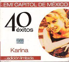 Karina 40 Exitos Edicion Limitada Caja De Carton 2 CD New Nuevo Sealed