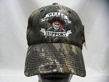 WELLS SUPPORT - PIRATE LOGO - CAMOUFLAGE - ADJUSTABLE BALL CAP HAT!