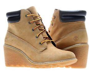Timberland Amston 6-Inch Wheat Nubuck Women's Wedge Boots 8251A