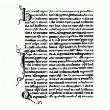 Crafty Individuals médiéval Manuscrit non montés Red Rubber Stamp