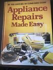 Appliance Repairs Made Easy Book by Consumer Guide Vintage 1981 photo