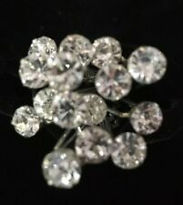 Wedding Pins Bridal Pearl Hairpins Flower Crystal Rhinestone Diamonte Grips x 2