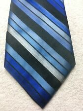 APT. 9 MENS TIE BLUE AND BLACK STRIPE 3.5 X 59 NWOT