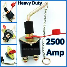 HEAVY DUTY 2500 AMP BATTERY KILL SWITCH SHUT OFF CONTINUOUS ISOLATOR 12 24 VOLT